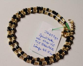 Black spinell  Necklace   (JK692g/si)