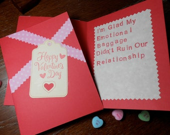 Funny Adult HANDMADE Valentine's Day Card