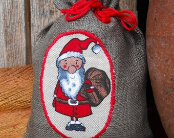Christmas Ideas Christmas Gift Bag Holiday Gift Bag Santa Sack Scandinavian Christmas Bag Gnome Elf Tomte Nisse Gift Wrap Swedish Christmas