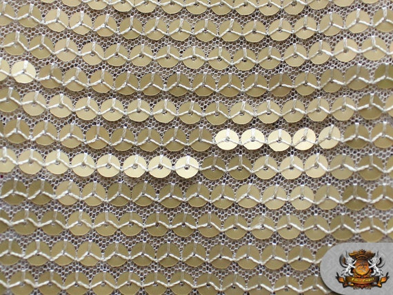Mesh sequin fish scale fabric matte gold 52 wide for Fish scale fabric