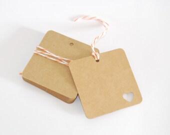 10 kraft paper tags, gift label, rustic wedding, wedding tags, kraft label