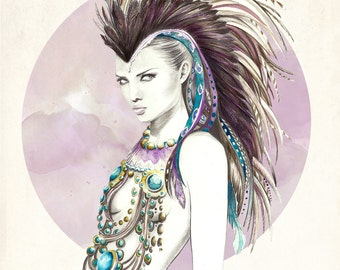 Ilustración: Lady Sioux. LIMITED EDITION.