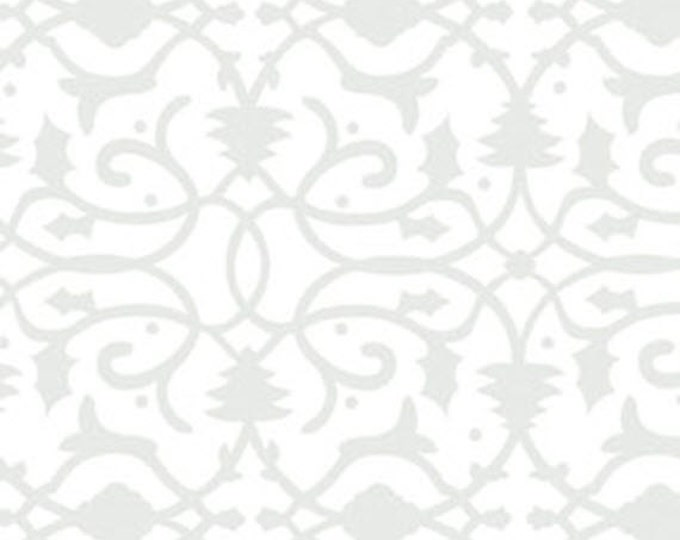 One Yard Christmas Pure & Simple - Brocade in Mist - Cotton Quilt Fabric - Nancy Halvorsen for Benartex - Pure and Simple (W1780)