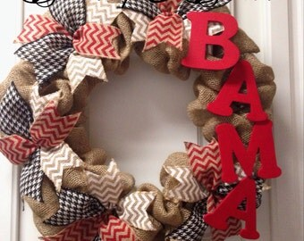 Alabama wreath, Bama wreath, fall wreath, football wreath