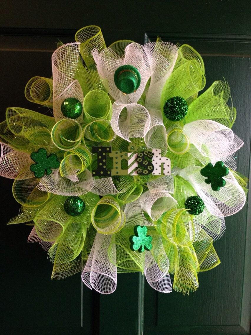 Saint patricks day wreath st patricks day decor saint for St patricks day home decorations