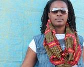 African print cowl, african scarf, infinity scarf, ankara, african fabric