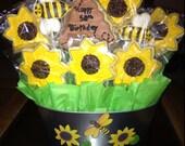 Happy Birthday ; Cookie Bouquet, Coolie Basket; Gift Badket