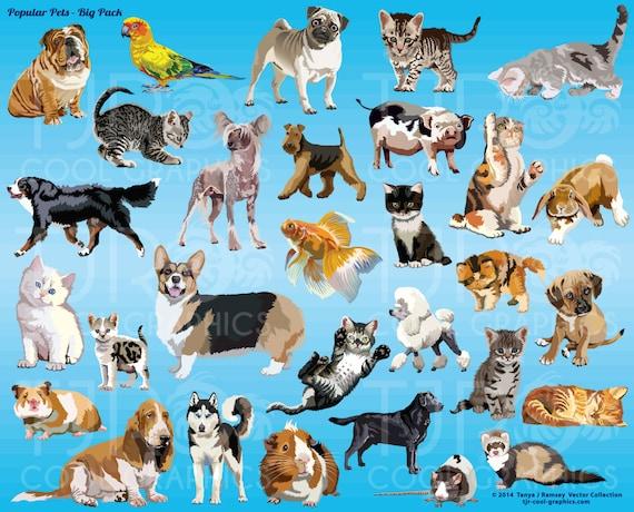 Popular Pets Big Pack Clip Art