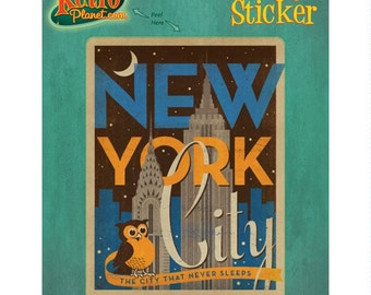 New York City Night Owl Vinyl Sticker - #47897