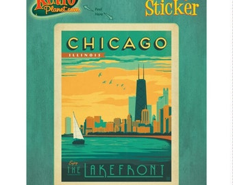Chicago Illinois Lakefront Vinyl Sticker - #47914