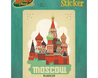 Moscow Russia Basil Cathedral Vinyl Sticker #47931