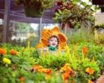 Crochet Flower Bonnet