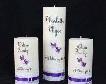 Wedding Unity Candles, 3 piece set