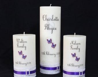 Wedding Unity Candles, 3 piece set