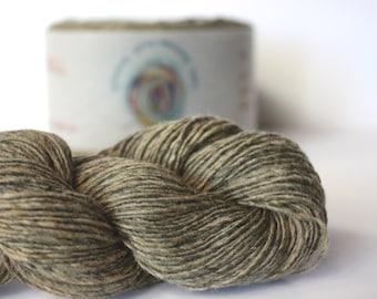 Spinning Yarns Weaving Tales - Tirchonaill 523 Lt Olive Grey 100% Merino for Knitting, Crochet, Warp & Weft