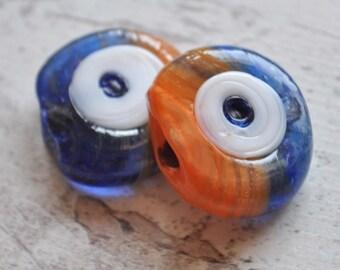 1 Piece Handmade Evil Eye Glass Beads, Nazar Bead, Hamsa, Amulet, Jewelry Findings, Jewelry Supply