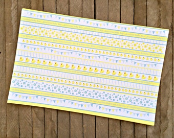Boy Baby  Duck Shower Paper Placemats -- Set of 8