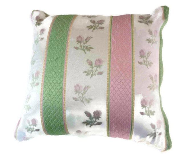 Vintage cushion pillow1950s fabric