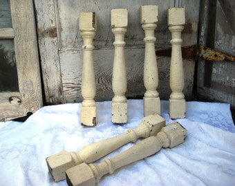 Antique porch post, architectural salvage, chunky porch post, chippy paint, distressed and rustic