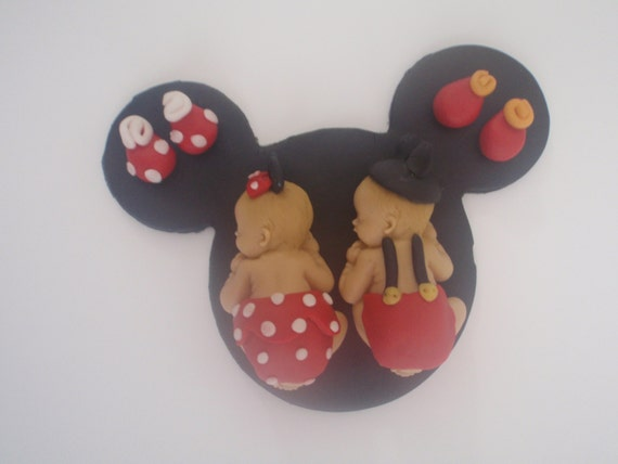 Fondant Edible Baby Minnie or mickey mouse by ...
