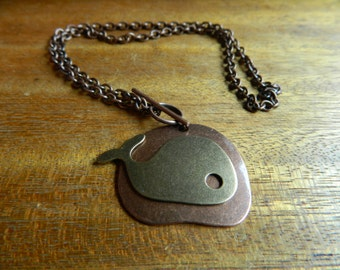 Thar She Blows in Bronze Necklace
