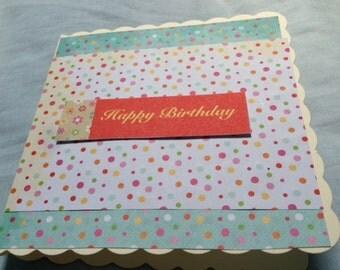 Happy Birthday, Birthday Card, Spotty Birthday Card, Dotty Birthday Card, Birthday Wishes Card, Birthday Boy Card, Birthday Girl Card