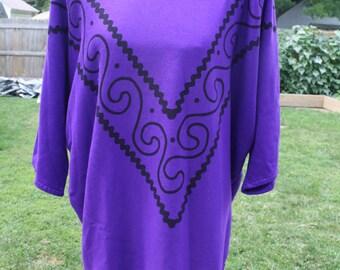 Vintage purple oversized sweatshirt