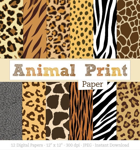 Striking image within animal printable