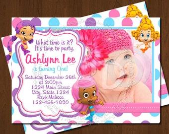 Bubble Guppies Birthday Invitations Template
