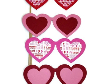 Valentine's Day Photo Booth Props- Set of 4 Photo Booth Props