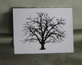Bur oak blank note cards
