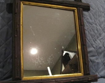Wonderful Vintage Hand Carved Black Forest Framed Mirror