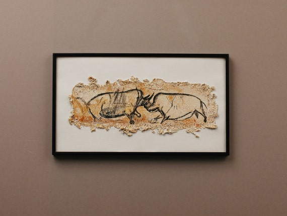 Chauvet Cave: Fighting Rhinoceros