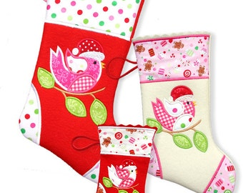 Christmas Stocking 2013 - 5x7  ITH Machine Embroidery Designs