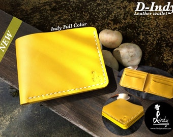 Leather Wallet Indy full color (Yellow)