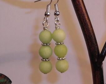 Sea Green Jade Earrings
