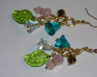 Flower Garden Dangle Earrings