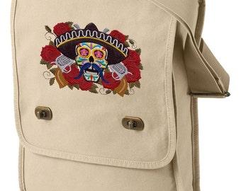 El Bandito Embroidered Canvas Field Bag
