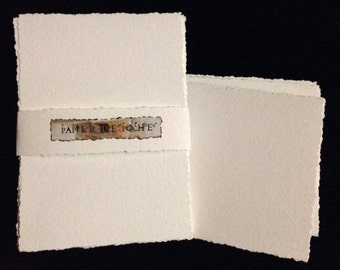Packet of 4 x 6 Watercolor Paper or Multi-Media Paper/ Postcard size with Deckled Edges