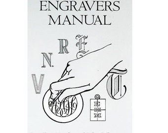 New The Jewelry Engravers Manual by Hardy R.Allen Book  Engraving Tools WA 580-050
