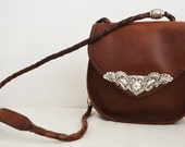 Free Ship Brighton Brown Leather Purse Cross Body Numbered Shoulder Bag