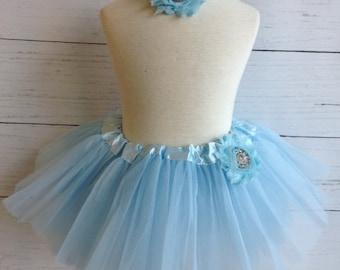 Light Blue Baby Tutu Set