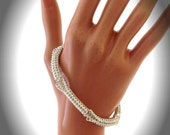 Sterling silver open round weave