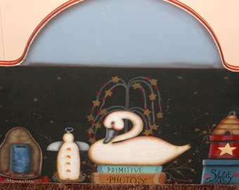 Hand painted primitive Welcome sign, OOAK