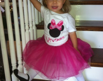 Personalized Minnie Mouse Girls Tee Size 12 month - 10 years