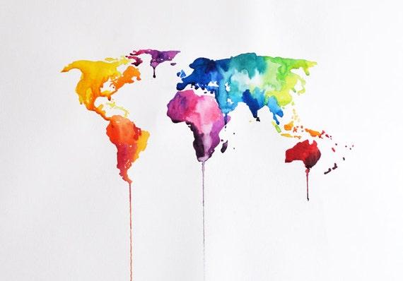 original abstract world map - photo #2