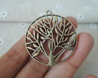6pcs 41x37mm Antique Bronze  tree  charming ( A239)