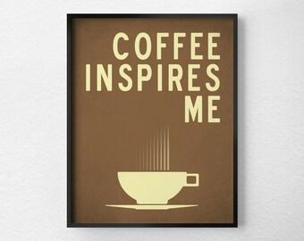 Coffee Print, Kitchen Decor, Coffee Poster, Coffee Art Kitchen, Coffee Inspiration, Coffee Poster, Coffee Artwork, Coffee Typography, 0265