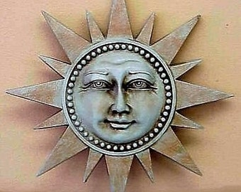 Celestial Spike Sun Sculpture Wall Plaque Home Decor