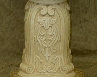 "14"" Ornate Pedestal Column Sculpture Home Decor"